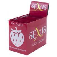 Набор из 50 пробников увлажняющей гель-смазки с ароматом клубники Silk Touch Stawberry  по 6 мл. каждый
