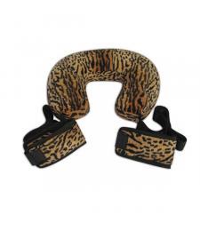 Леопардовая поддержка с подушкой и фиксаторами лодыжек