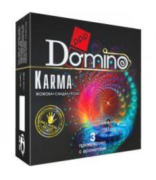 Ароматизированные презервативы Domino Karma - 3 шт.