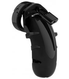 Черный мужской пояс верности с электростимуляцией E-stim Cockcage