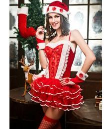 Новогодний эротический костюм Снегурочки №15