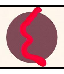 Красный дилдо для лесбийских игр New Wave