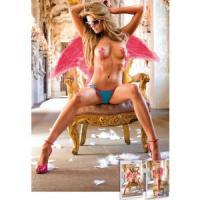 Оригинальные трусики-стринги Angel с розовой отделкой