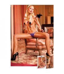 Изысканные фиолетовые кружевные трусики-стринг Barbie