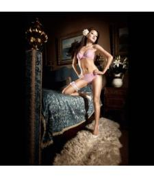 Бюстгальтер Dolce Vita розовый кружевной с мягкими чашечками на косточках