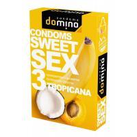 Презервативы для орального секса DOMINO Sweet Sex с ароматом тропических фруктов - 3 шт.
