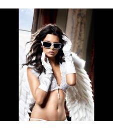 Белые сатиновые перчаточки Back in Heaven