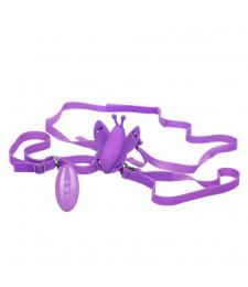 Фиолетовая вибробабочка на ремешках Silicone Remote Venus Butterfly