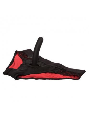 Красно-черные страпон-трусики Pegging Panty Set - размер S-M