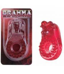 Красное эрекционное кольцо BRAHMA
