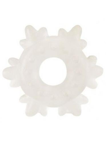 Прозрачное эрекционное кольцо в форме снежинки