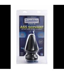 Большая анальная пробка Titanmen Tools Butt Plug 3.75  Diameter Ass Servant - 19 см.