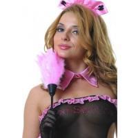 Розовая щеточка горничной - 35 см.