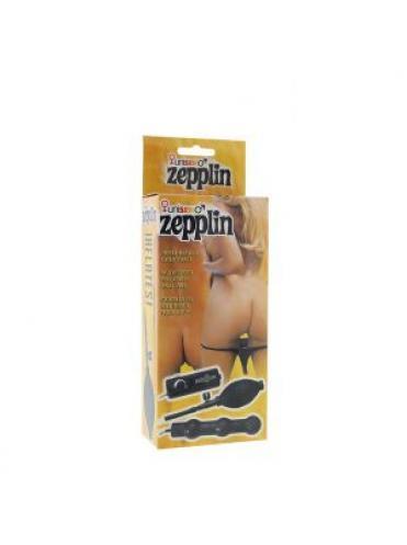 Вибрирующая анальная цепочка с накачкой Zepplin - 14 см.