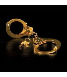 Золотистые наручники Metal Cuffs