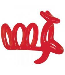 Красная рельефная насадка на пенис Funny Kangaroo