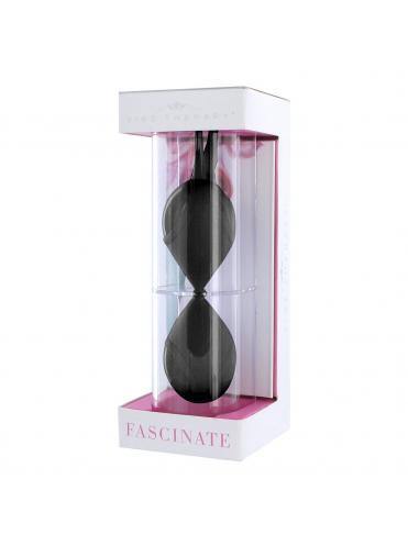 Чёрные силиконовые вагинальные шарики Fascinate