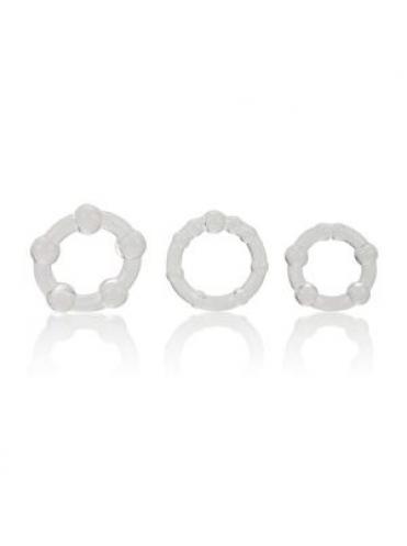 Набор из 3 прозрачных эрекционных колец различного диаметра Island Rings