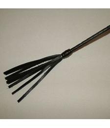 Длинный плетённый стек с наконечником-кисточкой - 85 см.
