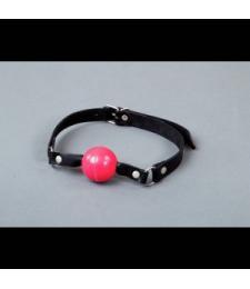 Кляп-шарик на кожаных ремешках