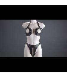 Женский комплект с открытой грудью