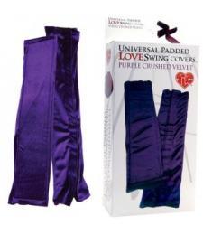 Бархатистые фиолетовые чехлы для любовных качелей