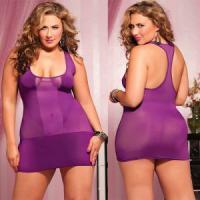 Короткое полупрозрачное платье увеличенного размера