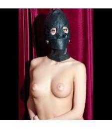 Чёрная кожаная маска с прорезями для глаз