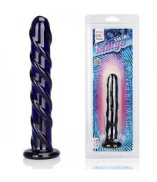 Фаллоимитатор цвета индиго Swirl Indigo - 17 см.