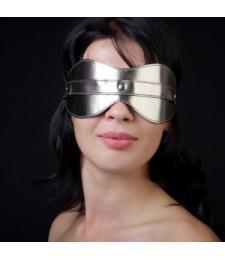 Маска на глаза из искусственной кожи цвета бронзы