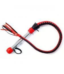 Красно-черная однохвостая плеть - 70 см.