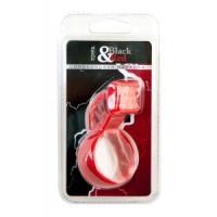 Красное эрекционное кольцо с клиторальным стимулятором