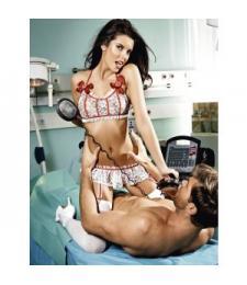 Игровой костюм профессиональной медсестры: топ, мини-юбка с пажами