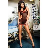 Костюм классной медсестры: мини-платье, трусики-стринги и чепец