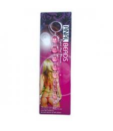 Розовая анальная цепочка - 31,5 см.