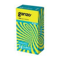 Презервативы с ребристой структурой Ganzo Ribs - 12 шт.