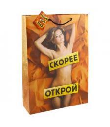 Большой подарочный пакет  Скорее открой  - 44,5 х 32 см.