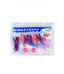 Вибронабор Climax Combo: вагинальные шарики, 5 стимуляторов и пульт-контроллер