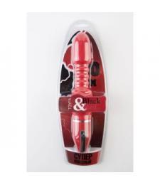 Красный анальный вибромассажёр с широкой головкой - 27 см.