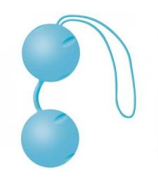 Голубые матовые вагинальные шарики Joyballs