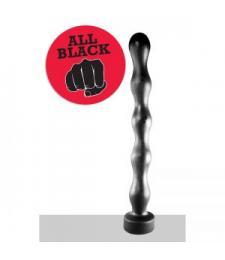 Чёрная анальная цепочка огромного размера - 41,5 см.