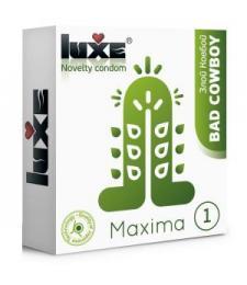 Презерватив Luxe Maxima WHITE  Злой Ковбой  - 1 шт.