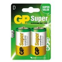 Батарейки Super LR20 алкалин в блистере GP 13A-CR2 - 2 шт.