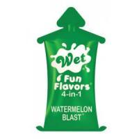 Разогревающий лубрикант Fun Flavors 4-in-1 Watermelon Blast с ароматом арбуза - 10 мл.