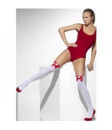 Чулки медсестрички с красными бантами