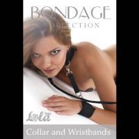 Ошейник с наручниками Bondage Collection Collar and Wristbands One Size