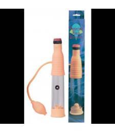 Вакуумный массажер-помпа со встроенным вибратором Vibrating Penis Developer
