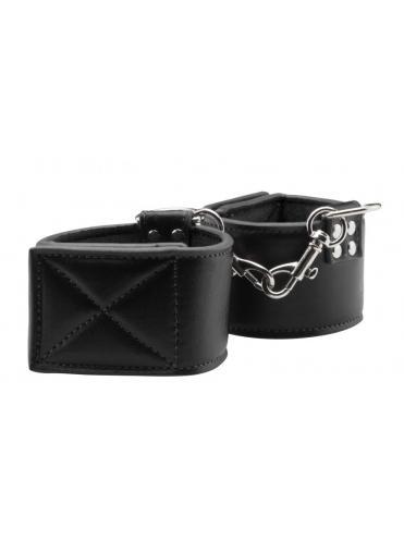 Чёрные двусторонние наручники Reversible Wrist Cuffs