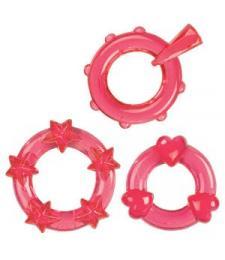 Набор из 3-х красных эрекционных колечек MAGIC C-RINGS
