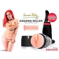 Мастурбатор-вагина Private Amarna Miller Vagina в тубе с хвостиком для массажа простаты